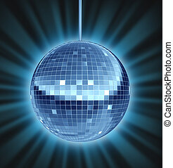 Disco Ball Dance Night - Disco ball dance night as a mirror...