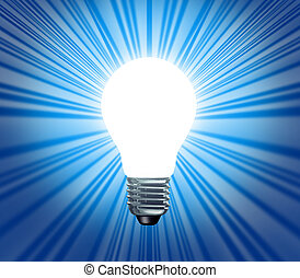 Idea Symbol With Blank Area - Idea symbol of a light bulb...