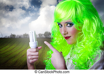 recicling green fairy girl - recycling green fairy girl...
