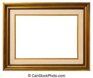Old gilt wood frame - Antique double frame: gilded wood and...