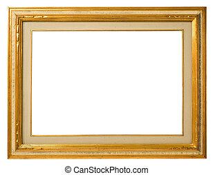 Old gilt wood frame - Antique gilt wood frame, italian...