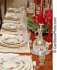 Christmas Dining Table - A Christmas Dining Table set...