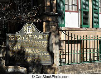 Savannah, casa,  Thomas,  OWENS,  Geórgia