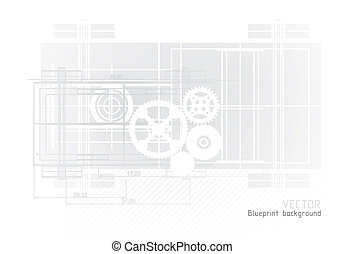 Technology blueprint abstract designwith gear