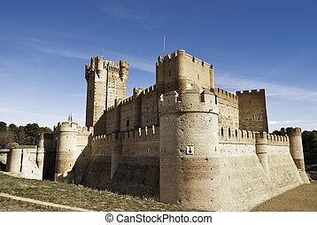 La Mota - famous old castle in Medina del Campo, Castille,...