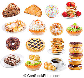 set with different sweet products
