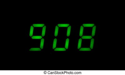 Digital led counter from nine