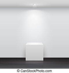 3d Empty white stand for your exhibit Vector illustration