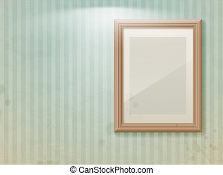 Empty frame on the wall.