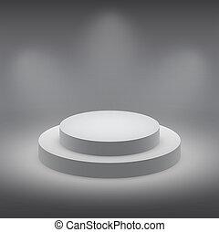 3d isolated Empty white podium