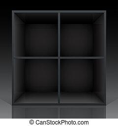 Empty shelf for exhibit
