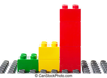 Achievment - Colorful building blocks in a stair that...