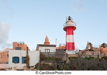 Lighthouse in Yaffo port, Israel