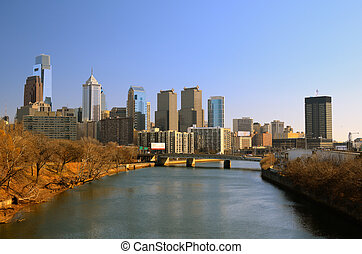 Philadelphia Skline - Center City in Philadelphia,...