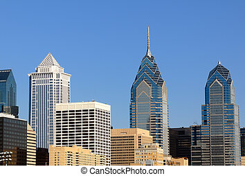 philadelphia - skyline of downtown philadelphia