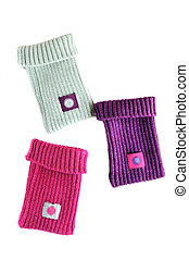 socks for phone - three colorful socks for phone in soft...