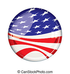 Vote 2012 American badge - American stars and stripes US...