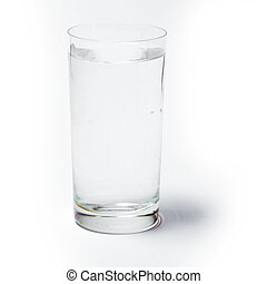 Glass with water on white background - Glass with clear...
