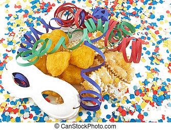 carnaval, celebração, Partido, bolo,...