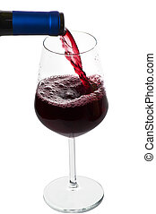 A glass of wine closeup