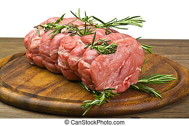 Roast Veal close up on cutting board