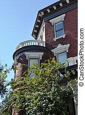 Charleston, sc, victoriano, casa