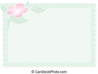 floral green card - green card with geometric ornament and...