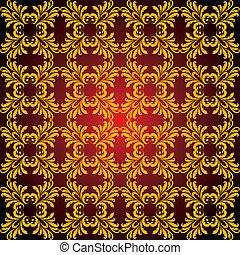 seamless abstract golden orient pattern