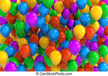 Party Balloons - Colorful party balloon background with...