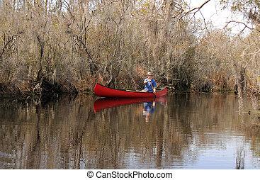 Canoeing in the Okefenokee Swamp