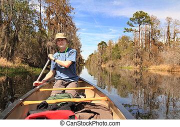 Paddling a Canoe - Suwanee River