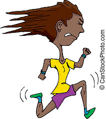 Young Latina Runner - Athletic Hispanic woman isolated over...