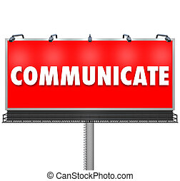 Communicate Word Large Billboard Share Information - A huge...
