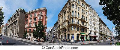 vienna row house panorama - vienna row house complete...