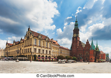 The City Hall, Wroclaw, Poland - Wroc?aw (German: Breslau)...