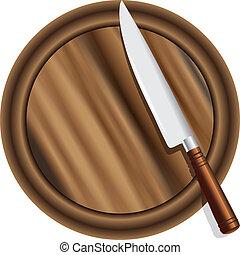 A kitchen knife
