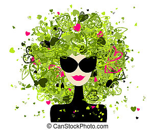 Fashion woman portrait for your design