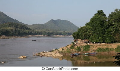 Mekong river going through Laos, Luang Prabang