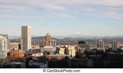 View of Portland Oregon Cityscape