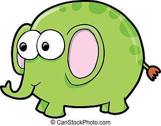 Goofy Silly Elephant Animal vector