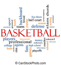 Basketball Word Cloud Concept with great terms such as...