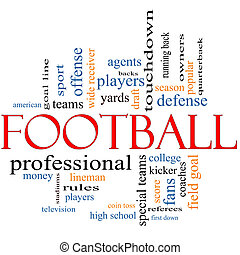 Football Word Cloud Concept with great terms such as coin...