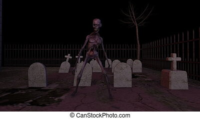 zombie at graveyard