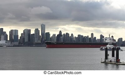 Vancouver Canada Skyline Cloudy Day