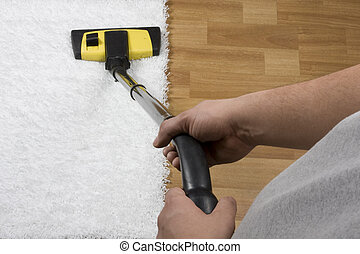 vacuuming - carpet cleaning