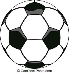 vector soccer ball clipart - vector illustration of soccer...