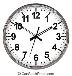 Clock on white background.