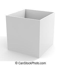 Empty white box.