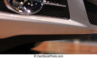 auto show car front bumper - Close up front bumper of sports...