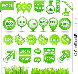 Green Eco Design Elements, vector eps10 illustration...